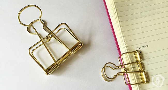 Binder clips gold