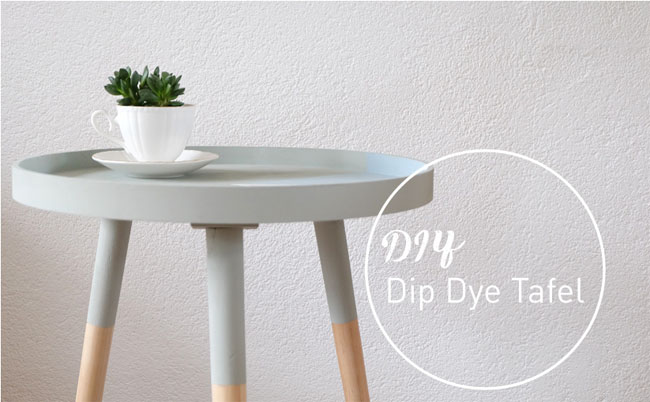 DIY dip dye tafel van No Ordinary Tales