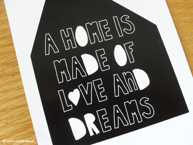 Eunoia Studio: 'a home is made of love and dreams' & 'do whatever makes you happy ' prints