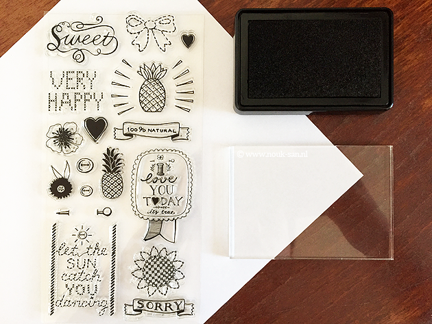 HEMA clear stamps 1